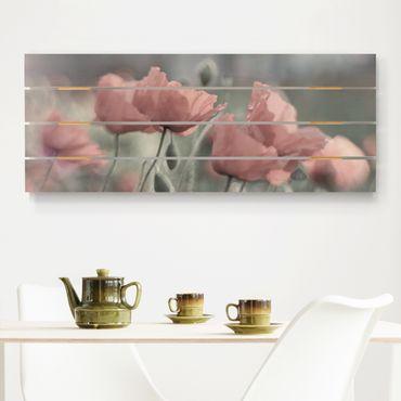 Stampa su legno - pittoreschi Poppies - Orizzontale 2:5