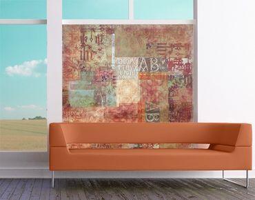 Decorazione per finestre Calligraphy Pattern