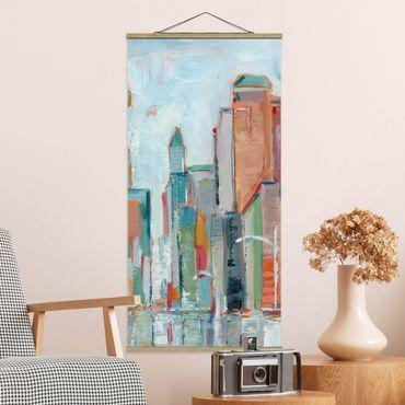 Foto su tessuto da parete con bastone - Contemporanea Downtown I - Verticale 2:1