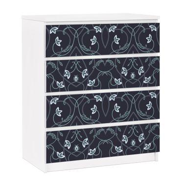 Carta adesiva per mobili IKEA - Malm Cassettiera 4xCassetti - Floral ornament fantasy