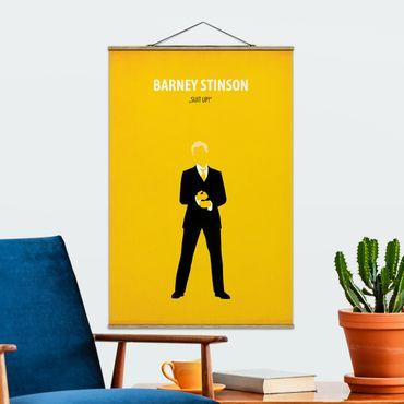 Foto su tessuto da parete con bastone - Film Poster Barney Stinson - Verticale 3:2