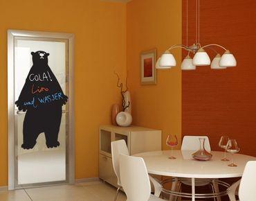 Adesivo murale lavagna no.UL711 Bear