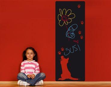 Adesivo murale lavagna no.UL718 Little Cat