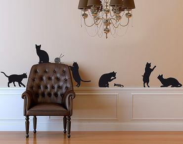 Adesivo murale no.RS66 Cat Gang