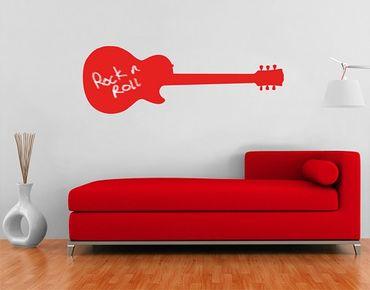 Adesivo murale lavagna no.AC78 Guitar
