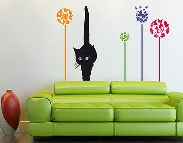 Adesivo murale no.RS76 Cat In Meadow