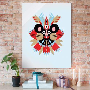 Quadro in vetro - Collage Mask Ethnic - mouse - Verticale 4:3