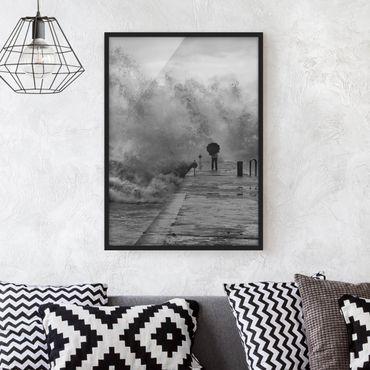 Poster con cornice - Raging Sea - Verticale 4:3