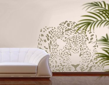 Adesivo murale no.MW98 Lurking Cheetah