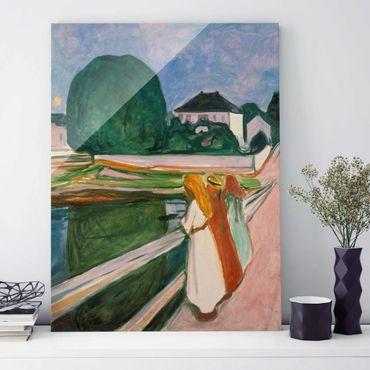 Quadro in vetro - Edvard Munch - Notte Bianca - Verticale 4:3