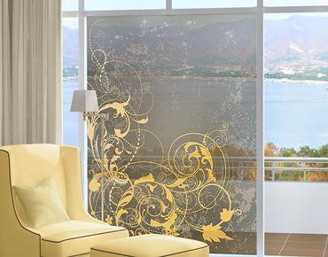 Decorazione per finestre Curlicues In Gold