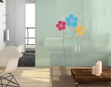 Adesivi da finestra no.MW86 Flower Trio