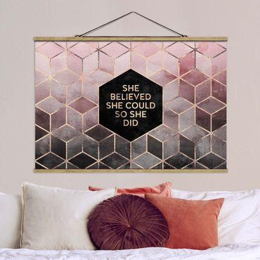 Foto su tessuto da parete con bastone - Elisabeth Fredriksson - Ha creduto che potesse in oro rosa - Orizzontale 2:3
