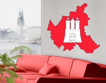 Adesivo murale no.AC32 Hamburg