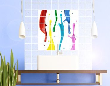 Adesivo per piastrelle - Splashes of colour