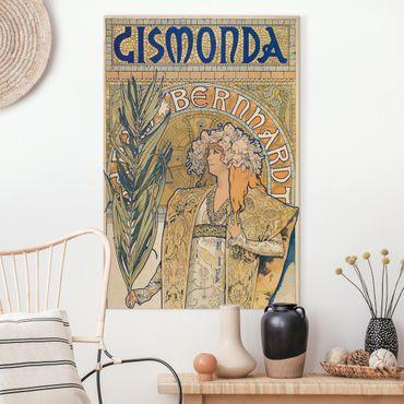 Quadri su tela - Alfons Mucha - Poster Per La Gismonda Gioco