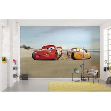 Carta da parati per bambini - Cars Beach Race - Komar fotomurale