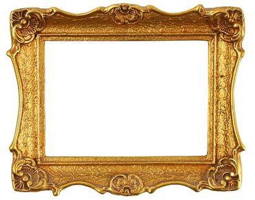 Adesivi da finestra no.493 Golden Frame I
