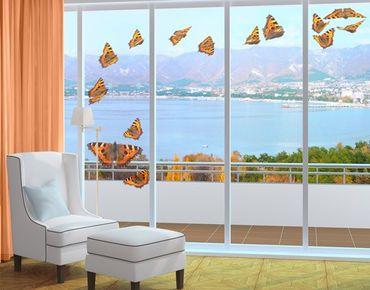 Adesivi da finestra no.598 Swarm Of Small Nymphalidae