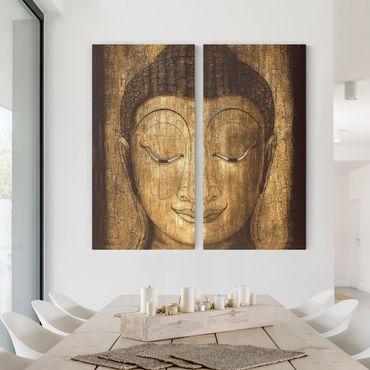 Stampa su tela 2 parti - Smiling Buddha - Verticale 2:1