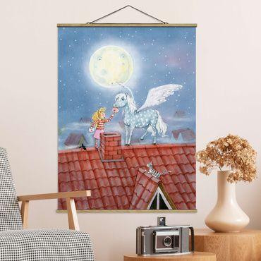 Foto su tessuto da parete con bastone - Magia Pony di Marie - Verticale 4:3