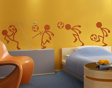 Adesivo murale no.RS99 Stick Figures Soccer