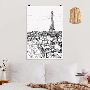 Poster - Città Studi - Parigi - Verticale 3:2