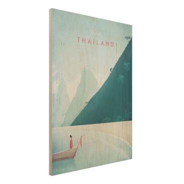Stampa su legno - Poster Viaggio - Thailandia - Verticale 4:3