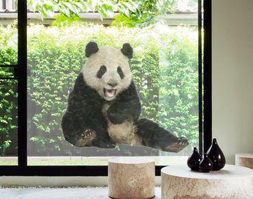 Decorazione per finestre Laughing Panda