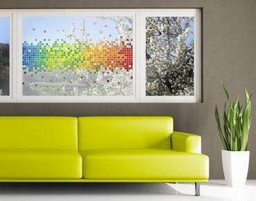 Decorazione per finestre Pixel Rainbow