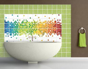 Adesivo per piastrelle - Pixel Rainbow