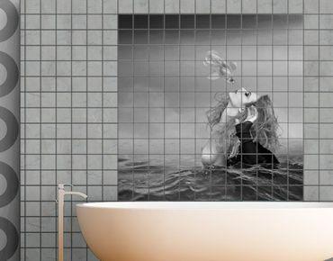 Adesivo per piastrelle - Kiss image of a goldfish II