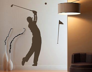 Adesivo murale - no.RS115 Golf - Con testo personalizzato