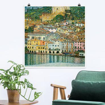 Poster - Gustav Klimt - Malcesine sul Lago di Garda - Quadrato 1:1