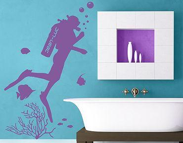 Adesivo murale - no.RS123 Acquanauta - Con testo personalizzato