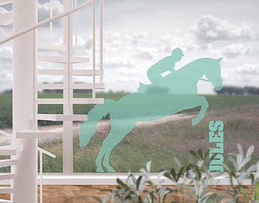 Adesivo per finestre - no.RS113 Your Own Words Show Jumping