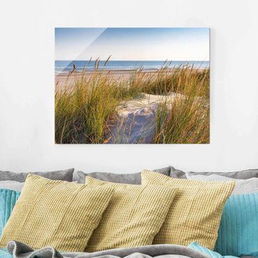 Quadro in vetro - Beach Dune Al Mare - Orizzontale 3:4
