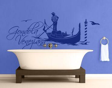 Adesivo murale no.FB90 Gondola Veneziana