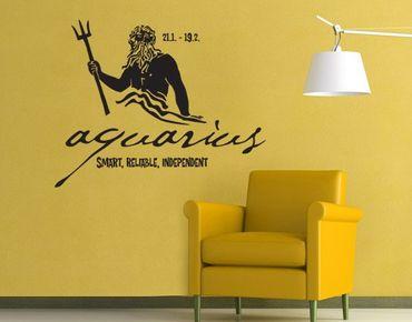 Adesivo murale no.UL761 Zodiac Sign Aquarius