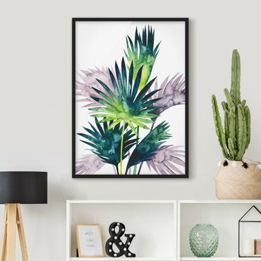 Poster con cornice - Exotic Fogliame - Ventola Di Palma - Verticale 4:3