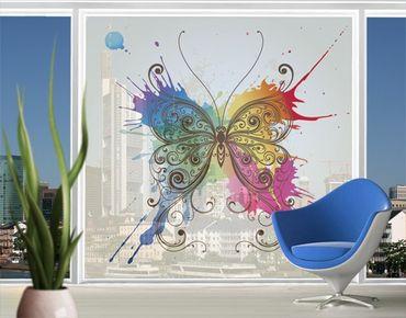 XXL Pellicola per vetri - Water Colour Butterfly