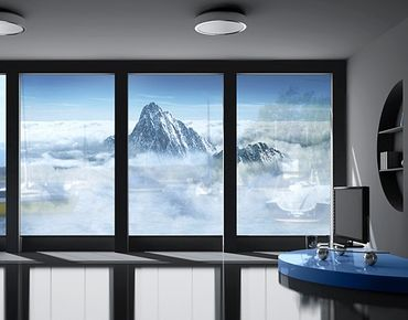 XXL Pellicola per vetri - The Alps Above The Clouds