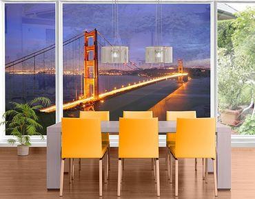 XXL Pellicola per vetri - Golden Gate Bridge At Night