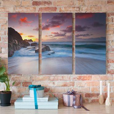 Stampa su tela 3 parti - By The Sea In Cornwall - Verticale 2:1