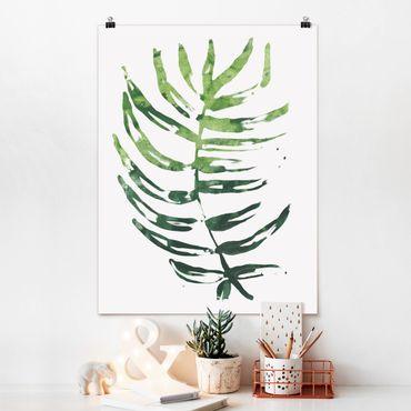 Poster - Foglie tropicali Acquerello I - Verticale 4:3