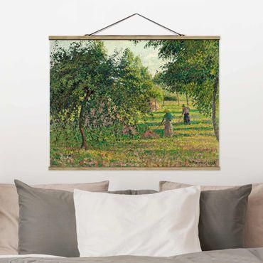 Foto su tessuto da parete con bastone - Camille Pissarro - Apple Trees - Orizzontale 3:4