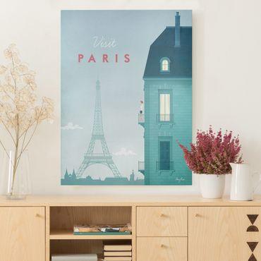 Stampa su tela - Poster Viaggio - Parigi - Verticale 4:3
