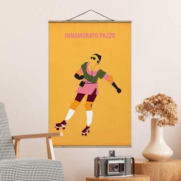 Foto su tessuto da parete con bastone - Film Poster Innamorato Pazzo - Verticale 3:2
