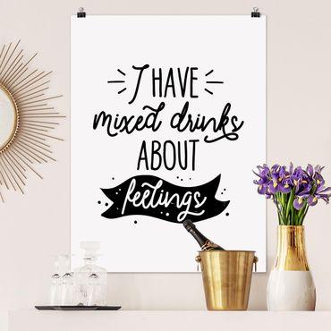 Poster - Ho sentimenti contrastanti su bevande - Verticale 4:3