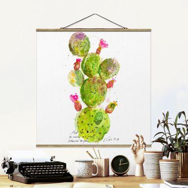 Foto su tessuto da parete con bastone - Cactus Con Versetti della Bibbia III - Quadrato 1:1